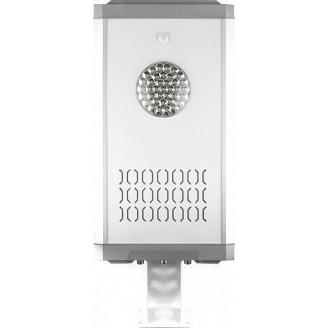 Светодиодный уличный фонарь консольный на солнечной батарее Feron SP2337 12W 6400K с датчиком движения, серый 32189