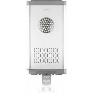Светодиодный уличный фонарь консольный на солнечной батарее Feron SP2335 8W 6400K с датчиком движения, серый 32029