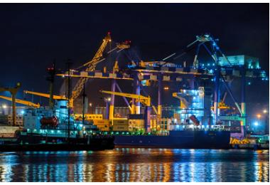 Освещение морского торгового порта в г.Новороссийк