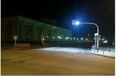 Освещение пешеходных переходов в г.Майкоп (Республика Адыгея)