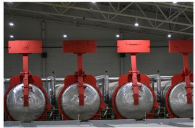 Освещение завода Сибирский элемент Рента-К по производству автоклавного газобетона в Калужской области